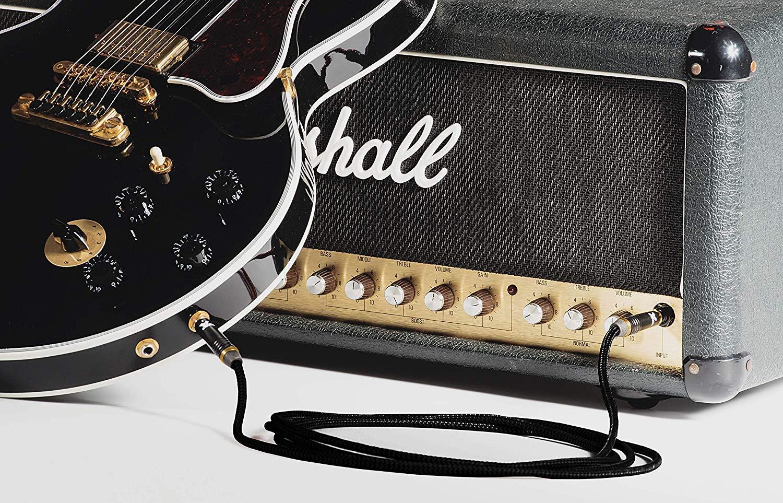 3m // T/ête Silencieux Droite /– T/ête Droite Cordon pour Guitare Electrique et Basse Silent Dragon C/âble Instrument C/âble Jack 6.35 Plaqu/és Or male male