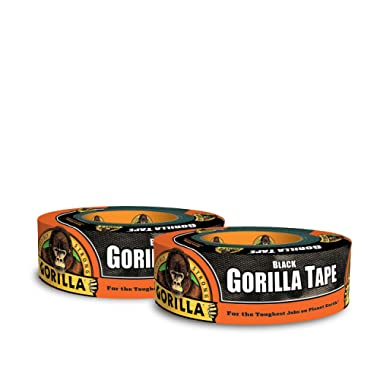 Gorilla Tape, Black Duct Tape, 1.88  x 35 yd, Black, (Pack of 2)