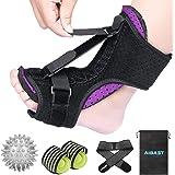 2020 New Upgraded Purple Night Splint for Plantar Fascitis, AiBast Adjustable Ankle Brace Foot Drop Orthotic Brace for…
