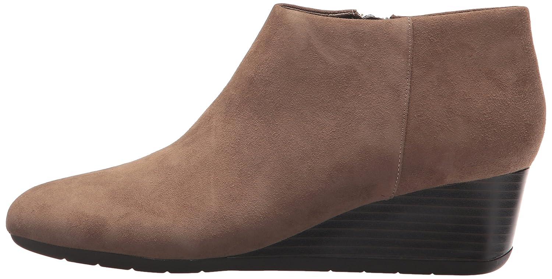 Easy Spirit Women's Leinee Ankle Bootie B06Y3NM82C 9 W US|Dark Taupe Suede