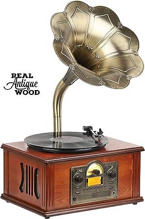 Equipo de música Retro nostálgico, gramófono, Sistema de Sonido ...