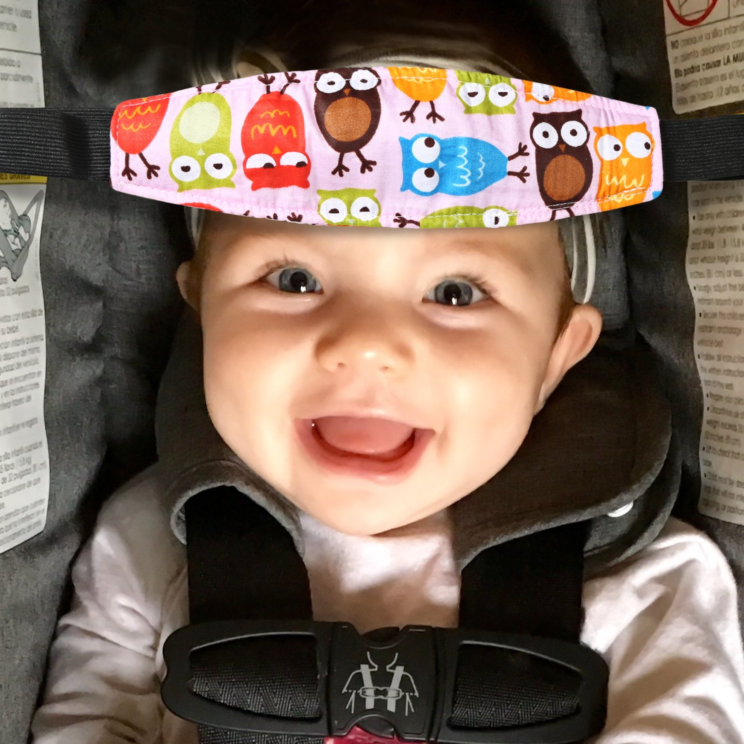 2 Packs Toddler Car Seat Neck Relief And Head Support Pillow Band Easy