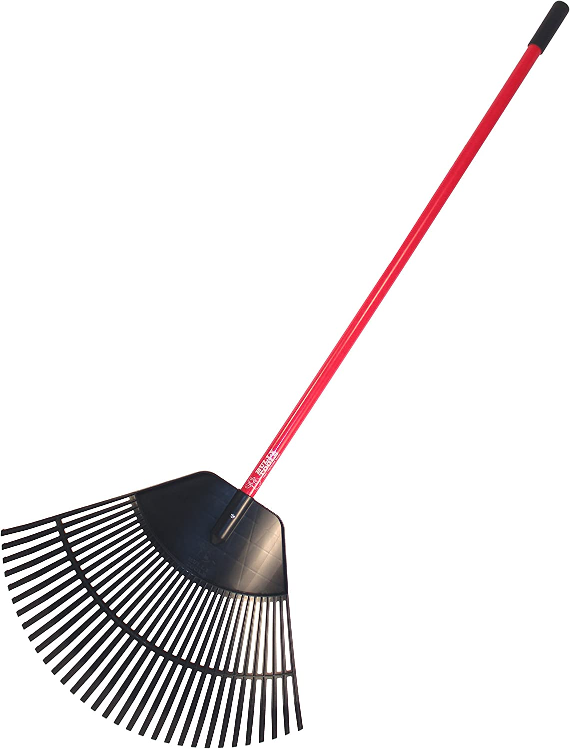 "Bully Tools 92630 30"" Poly Leaf Rake. Fiberglass Handle. (ships disassembled)"