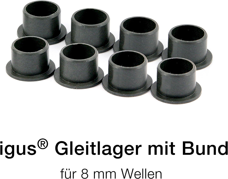 10 Stück Sinterbronze Buchse Ø 3 x 6 x 4 mm Gleitlager für 3 mm Welle Lager