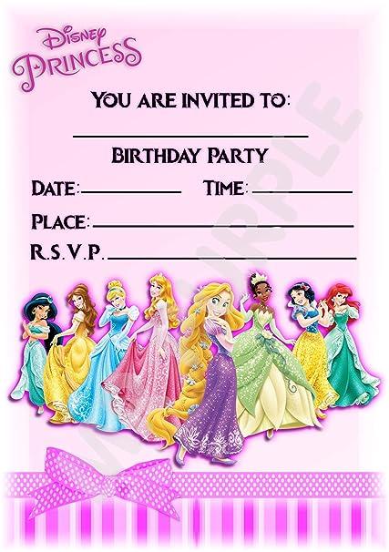 Invitaciones Para Fiesta De Cumpleaños De Grupo De Princesas