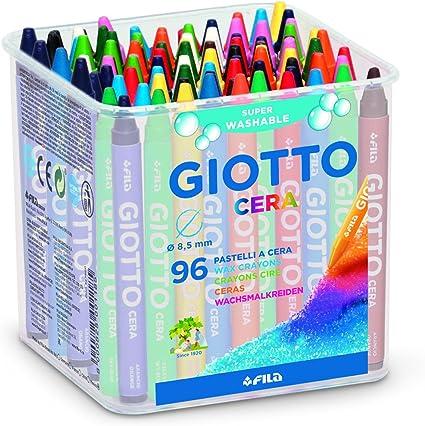 Giotto 5236 - Caja de 96 ceras: Amazon.es: Oficina y papelería