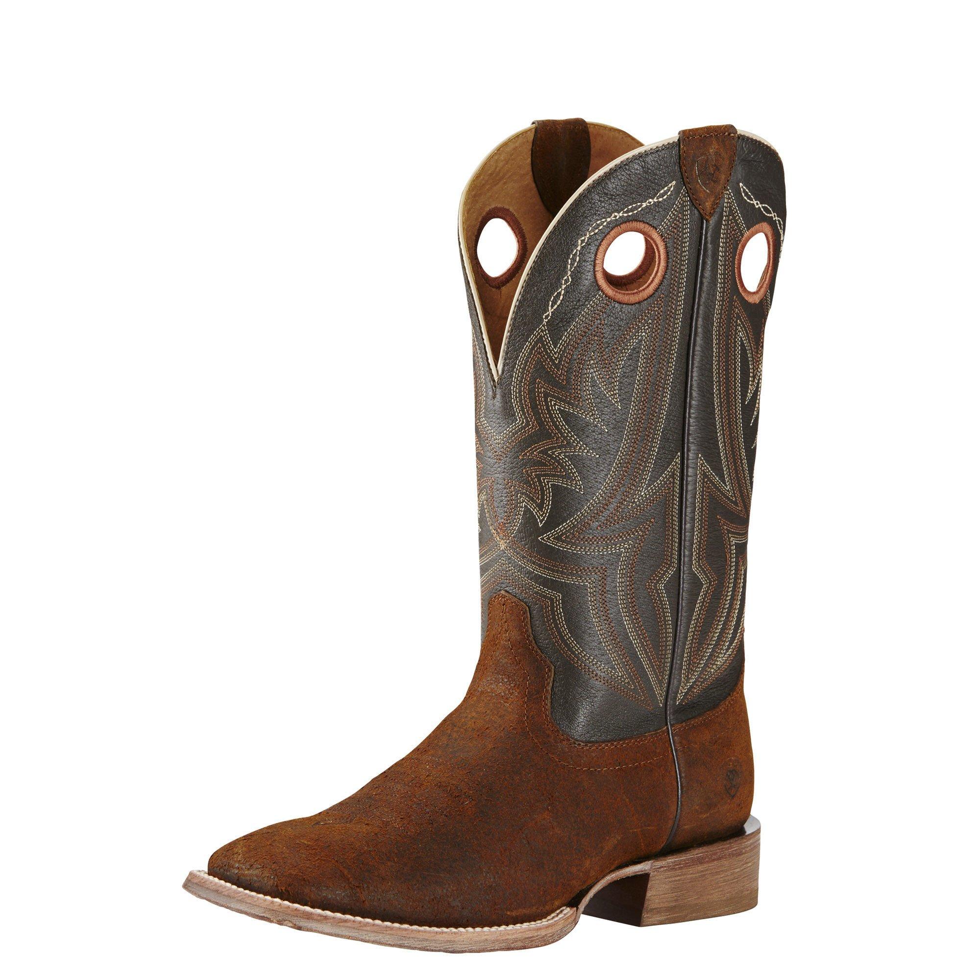 Ariat Men's Circuit Hazer Western Cowboy Boot, Rough Chocolate, 10 D US