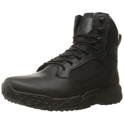 Under Armour Men's Stellar Tac - Wide (2E) Military and Tactical Boot, Black/Black/Black, 2E US: Shoes
