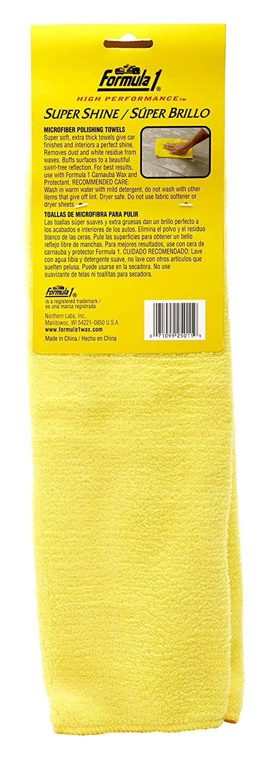 Amazon.com: Formula 1 Super Shine Microfiber Towels - for Heavy Polishing or Light Dusting - 16