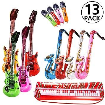 Yosemy Inflables de Juguete, Inflable Guitarra Saxofón Micrófono ...
