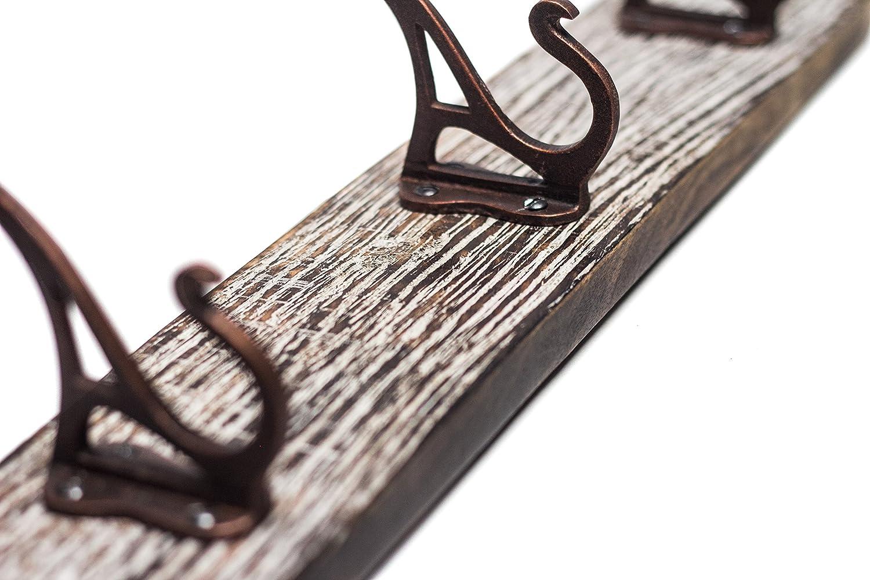 Meta Franc Vintage del gancio ✓ ferro effetto anticato ✓ lavorazione ✓ Form bello e decorativo ✓ materiale per il montaggio 213771 | Doppio Gancio ganci appendiabiti gancio del tovagliolo