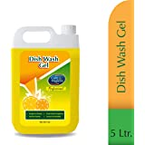 Care And Hygiene Dish Wash Liquid, 5 Litres Economy Pack, Yellow, Powerful Cleaner Which Washes Utensils Easily