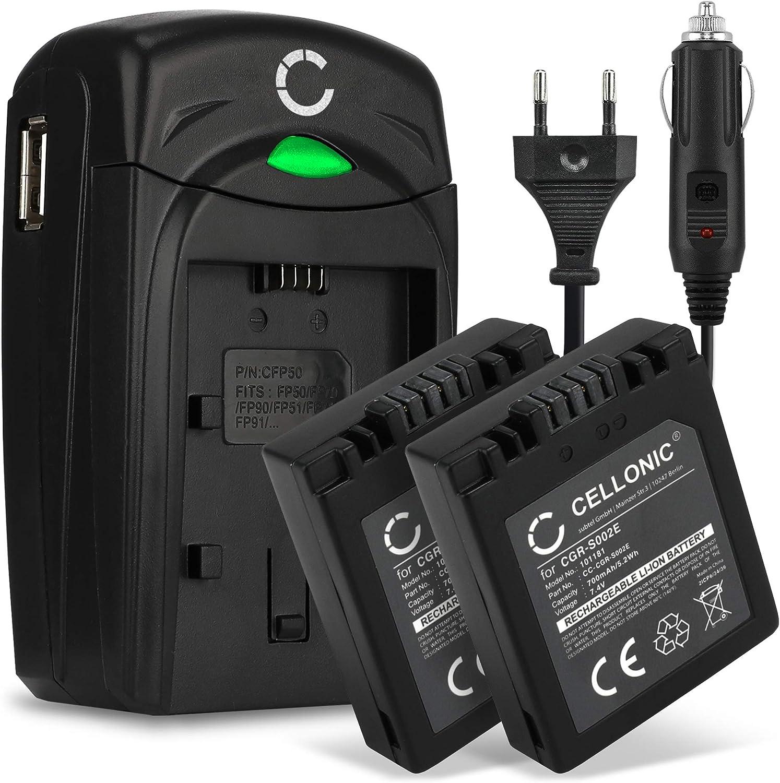 Cellonic 2x Qualitäts Akku Kompatibel Mit Panasonic Elektronik