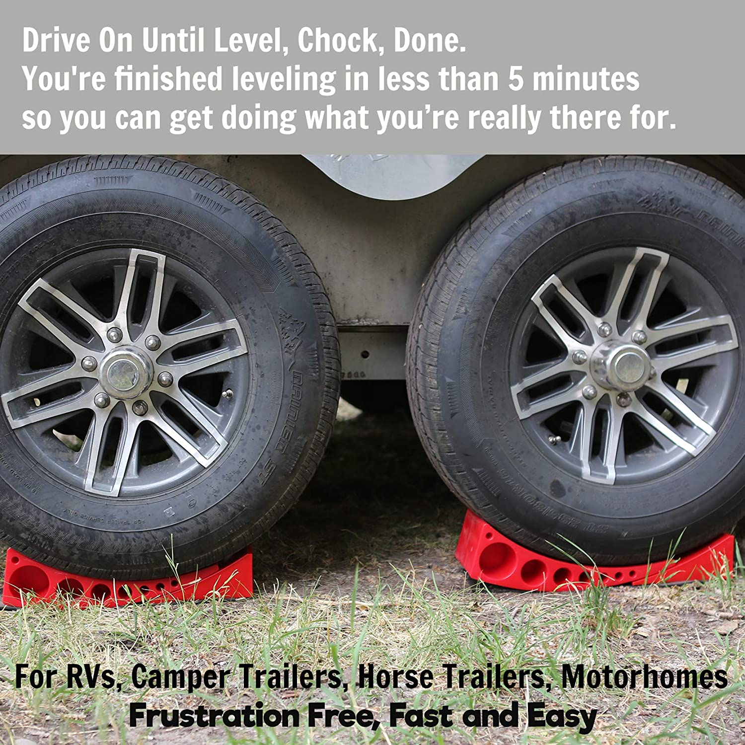 Camper Wheel Chocks >> 2 Pack Camper Leveler Chock Kit Andersen 3604 X2 Less Than 5 Minutes To Level Your Camper Or Trailer Levelers For Rv Simply Drive On Chock