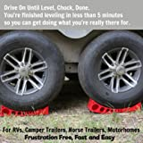 2-Pack Camper Leveler, Chock Kit   Andersen 3604 x2   Less Than 5 Minutes to Level Your Camper or Trailer   Levelers for RV   Simply Drive On. Chock. Done.   Faster and Easier Than RV Leveling
