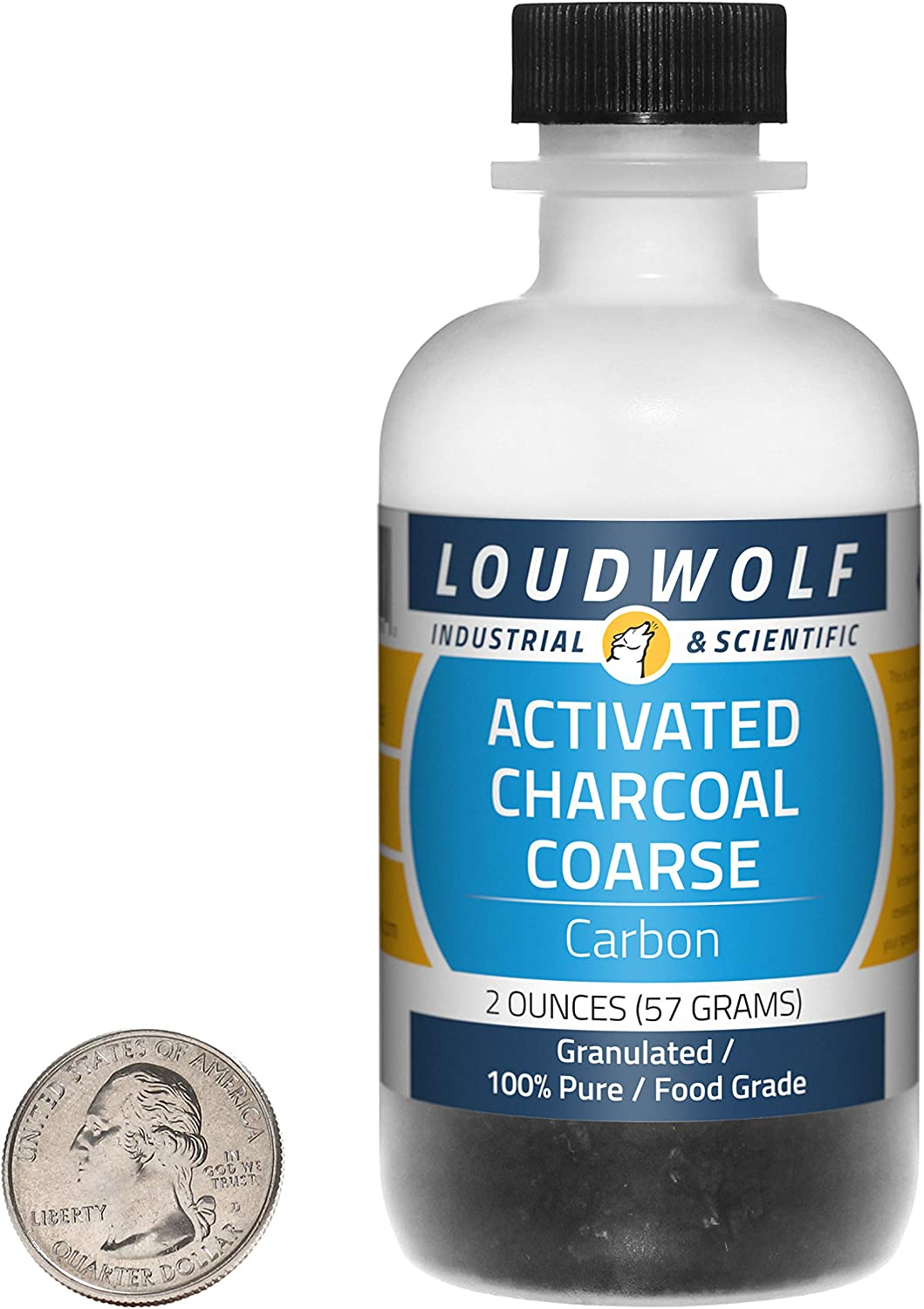 Activated Charcoal / 2 Ounce Bottle / 100% Pure Food Grade/Granulated/USA