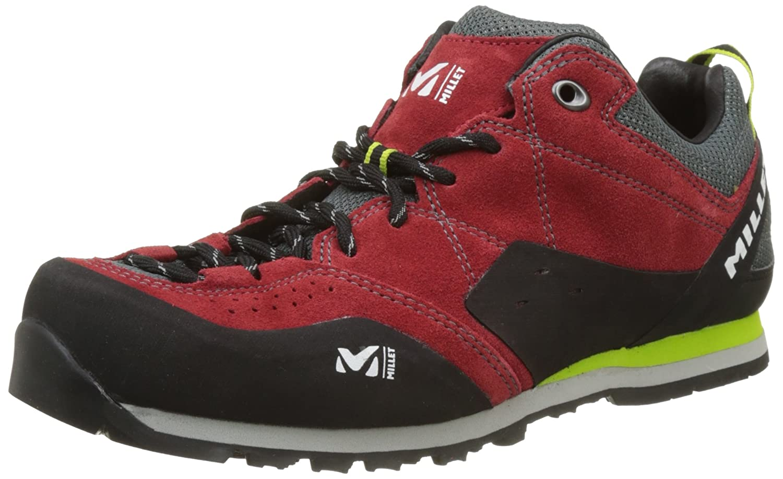 Millet Rockway, Zapatos de Escalada para Hombre 42 EU|Rojo (Red/Acid Green 7161)