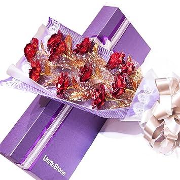 unitestone flores ramo de rosas rojas regalos para novia y ...