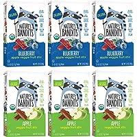 Nature's Bandits Organic Fruit & Veggie Stix - Variety Pack (Apple & Blueberry), 6 Boxes of 0.6 ounce 5 pack box- Gluten Free, Vegan, Kosher