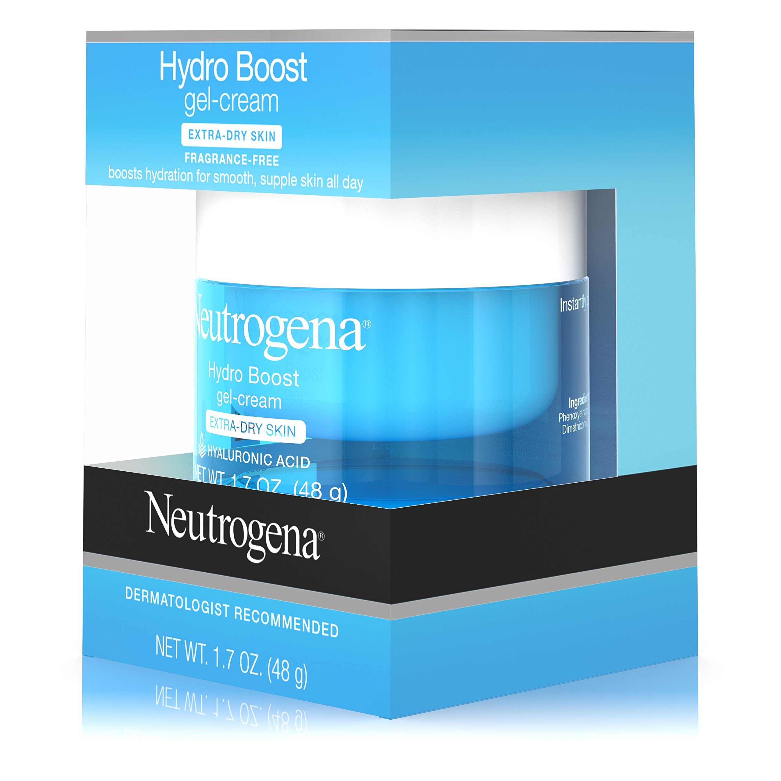 Neutrogena Hydro Boost Hyaluronic Acid Hydrating Face Moisturizer Gel-Cream to Hydrate and Smooth Extra-Dry Skin, 1.7 oz by Neutrogena (Image #12)