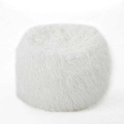 Lycus Faux Fur Bean Bag Chair White - the best bean bag chair for the money
