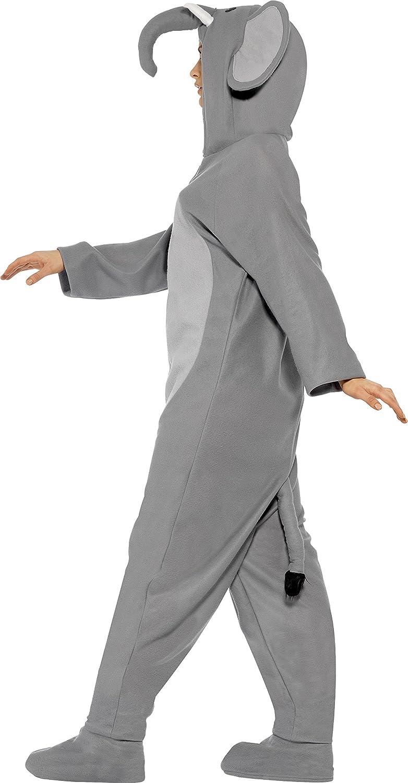 Tuta integrale con cappuccio Smiffys Costume da elefante