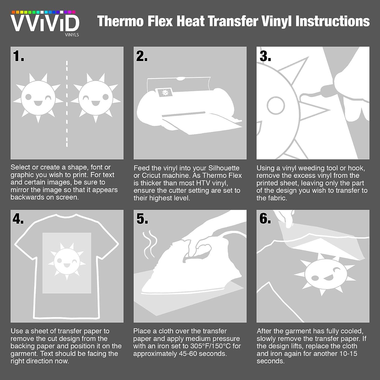 Amazon Vvivid White Heavy Duty Iron On Heat Transfer Vinyl Film