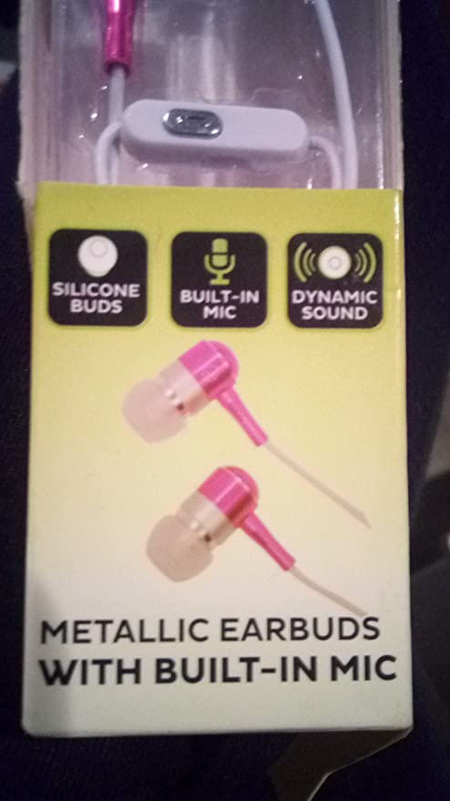 1aa12fcdd80 Amazon.com: Sound Logic Metallic Pink Earbuds with Built in mic: Home Audio  & Theater