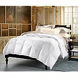 Cuddledown 900 Fill Power Batiste Down Comforter, Twin, Level 2, White