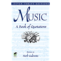 Music: A Book of Quotations (Dover Thrift Editions) (English Edition)