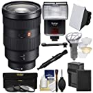 Sony Alpha E-Mount FE 24-70mm f/2.8 GM Zoom Lens with Battery & Charger + 3 UV/CPL/ND8 Filters + Flash + Soft Box + Kit