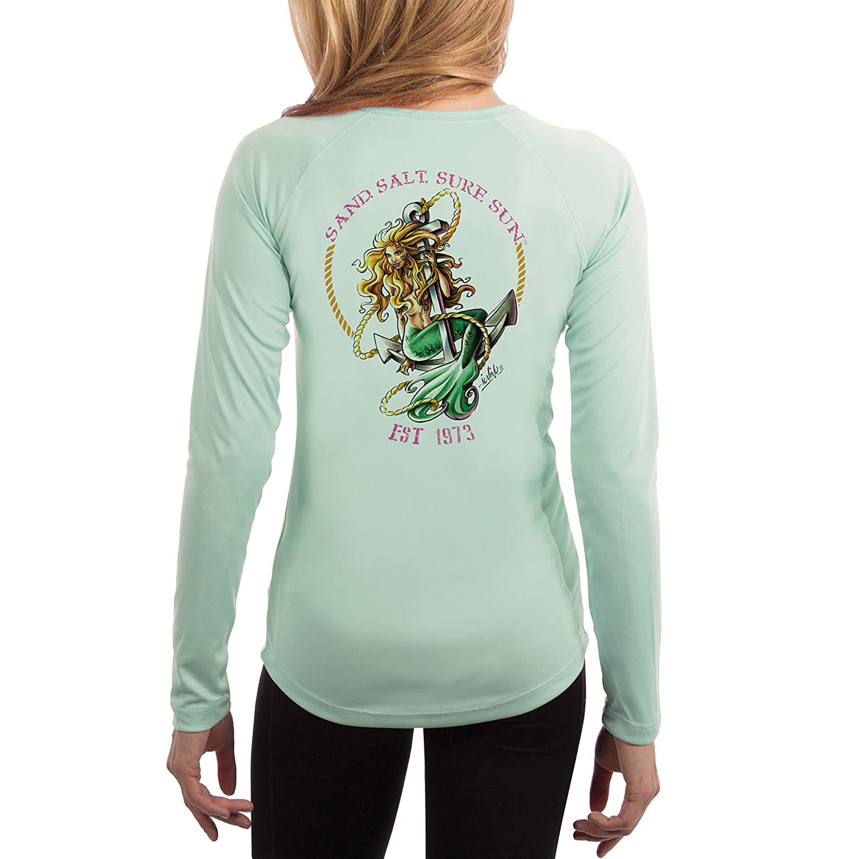 14b42202a SURF.SUN. Mermaid Women's UPF 50+ Long Sleeve T-Shirt at Amazon Women's  Clothing store: