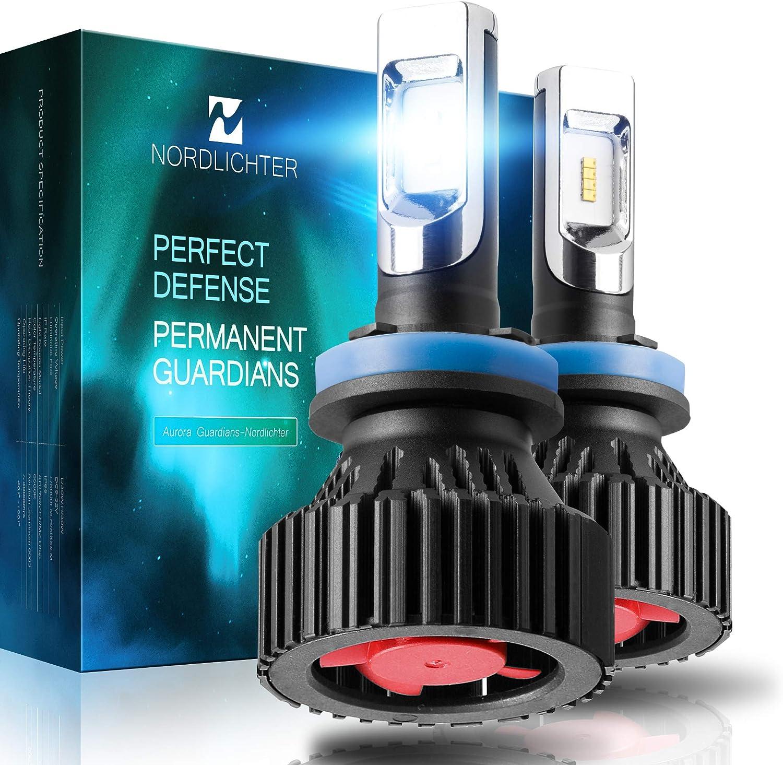 Nordlichter Ultra Bright H11 (H8 H9) LED Headlight Bulbs,ZES Chips Conversion Kit,8000 Lumens 6500K Cool White