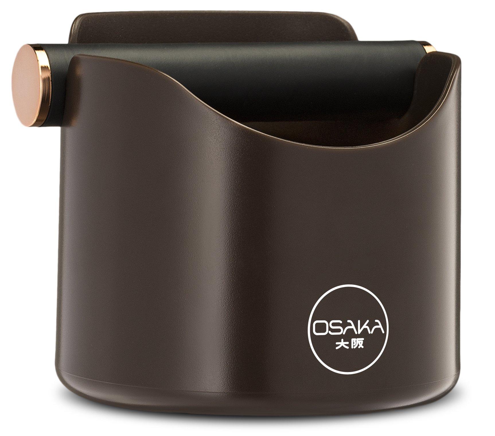 Osaka, Shock-Absorbent Espresso Knock Box - Durable 4.7 Inch Barista Style Knockbox''Kawachi Fuji Garden'' (Brown)
