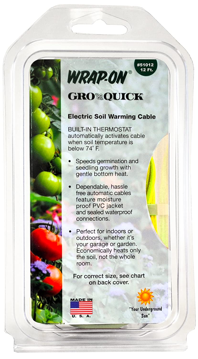 Amazon.com: Wrap-On 51048 48\' GRO-QUICK Soil Warming Cable 168 Watts ...
