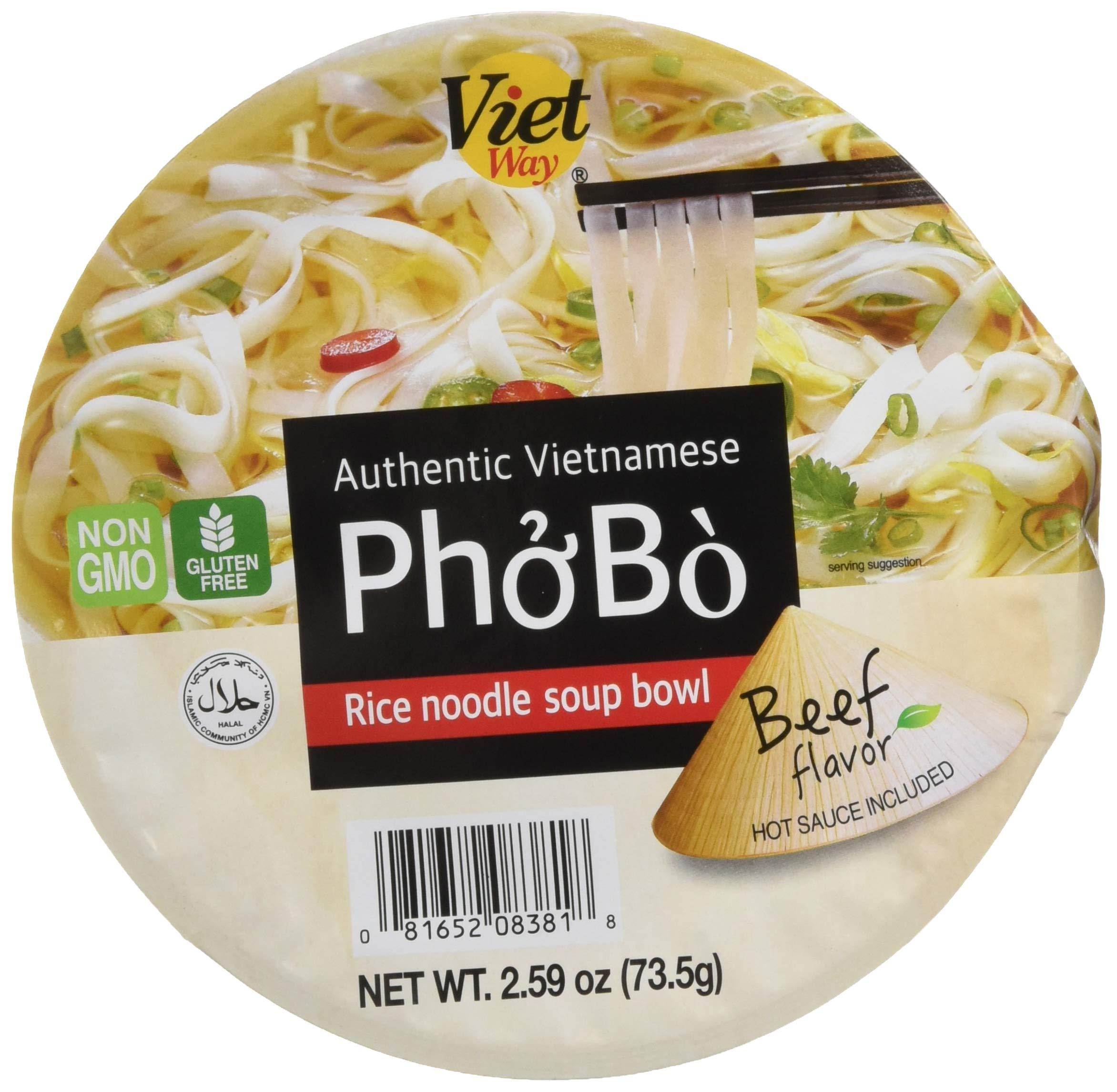 Authentic Vietnamese Pho Bo Rice Noodle Soup Bowl (8) by Viet Way