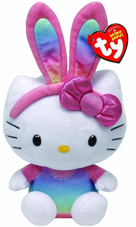 Amazon.com: Ty Beanie Babies Hello Kitty Rainbow Bunny Ears Plush: Toys & Games