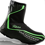 Waterproof Bike Shoe Covers - Bikeroo Bicycle Shoes Protection for Winter Rain and Cold - Overshoes Feet Warmer for Cycling
