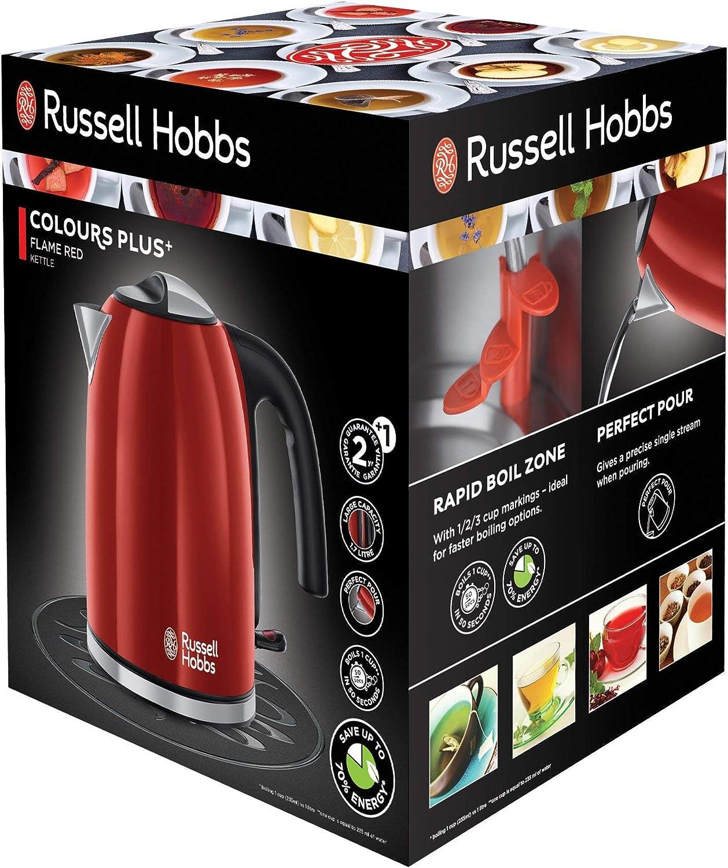 - ref 20415-70 2400 W, 1,7 litros, Acero Inoxidable, Crema Hervidor de Agua El/éctrico Russell Hobbs Colours Plus