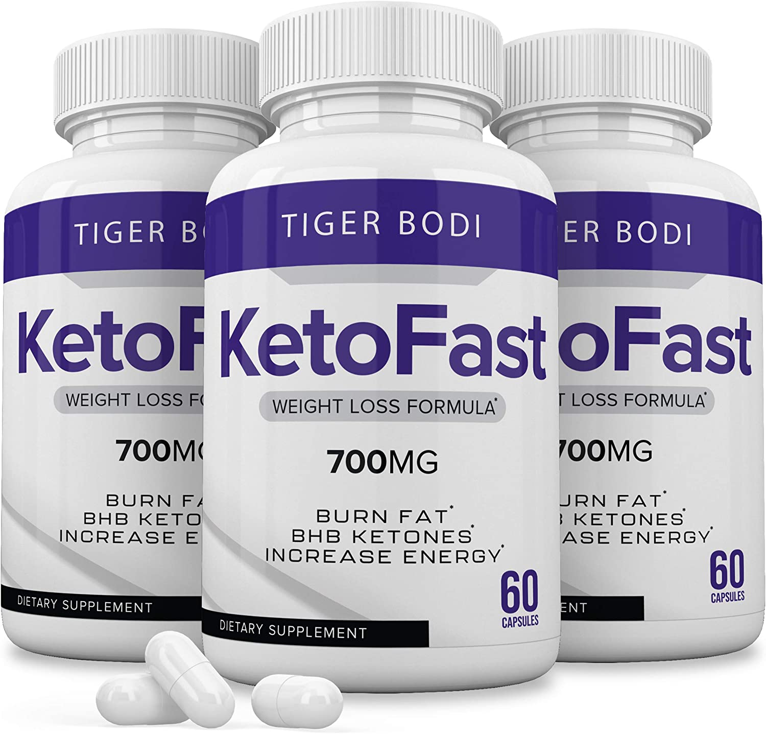 (3 Pack) Keto Fast Diet Pills Keto Fast 700 mg Burn Weight Management Capsules - Pure Keto Fast Supplement for Energy, Focus - BHB Ultra Boost Exogenous Ketones for Rapid Ketosis for Men Women