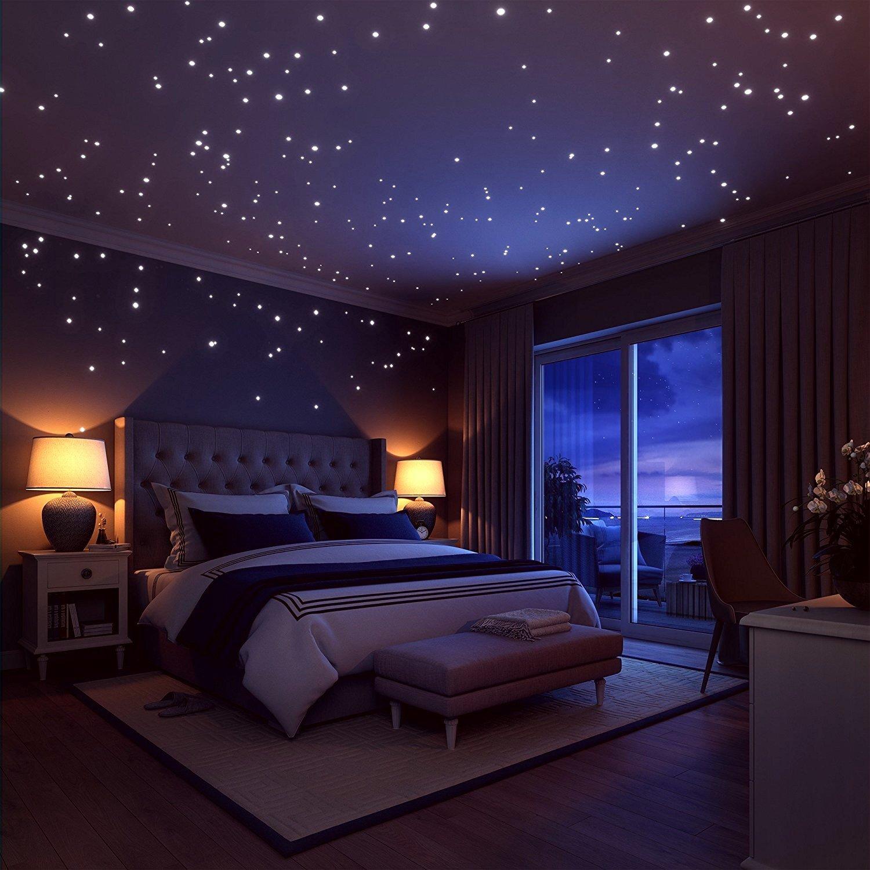 GaDa 200 STK Kleine leuchtende Punkte Sterne Leuchtend fluoreszierend Sternenhimmel Leuchtpunkte Dots Wandtattoo f/ür Das Kinderzimmer oder Schlafzimmer