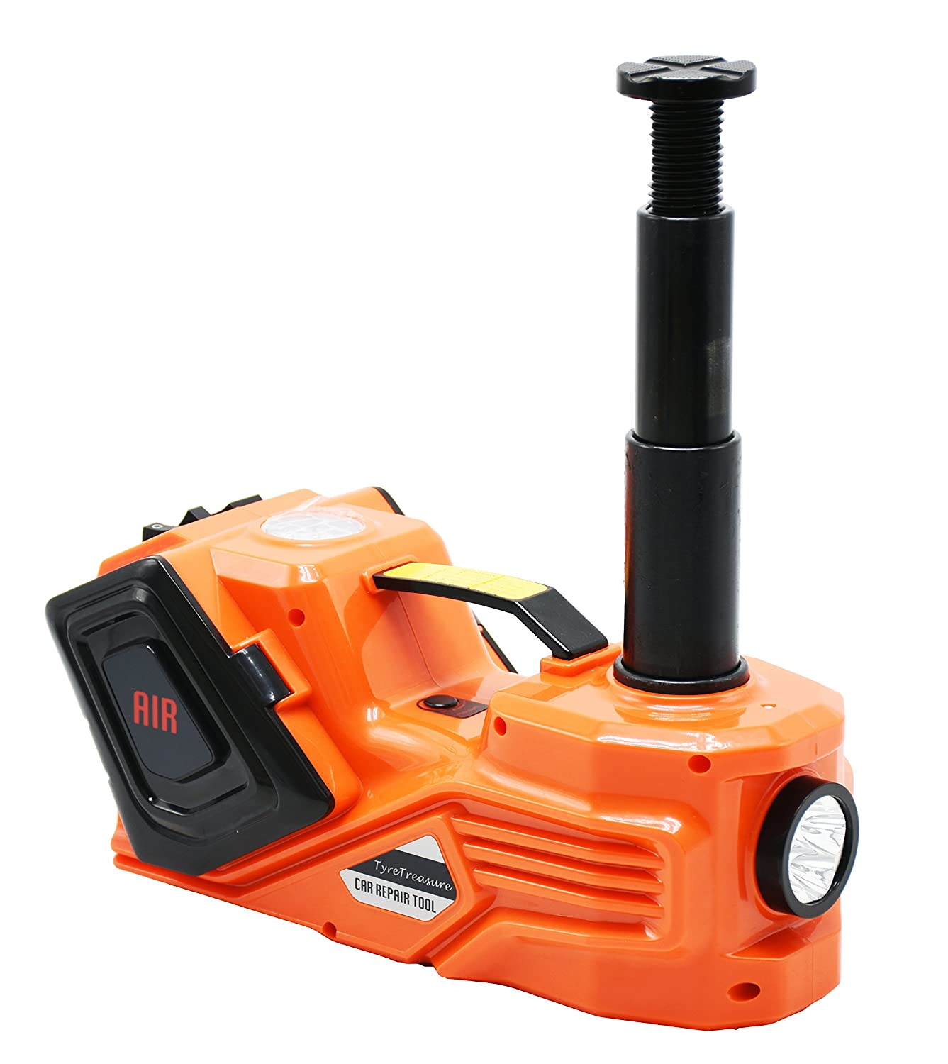 3T Electric Hydraulic Trolley Jack with Electric Impact Screwdriver 15.5/cm-45/cm