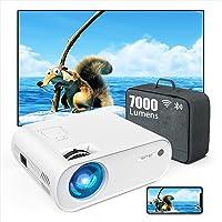 TOPTRO Mini Beamer, 7000 Lumen, WiFi Bluetooth Beamer Projector, Ondersteuning 1080P Full HD, met HiFi-luidspreker…
