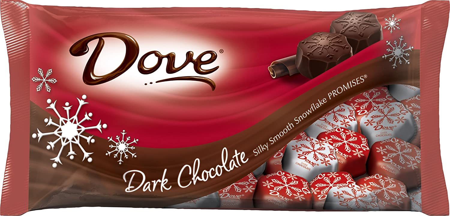 Amazon.com : Dove Promises Silky Smooth Dark Chocolate Snowflakes ...