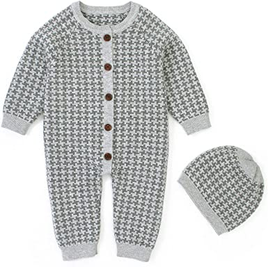RDHOPE Kids Baby 3 Pack Longsleeve Footed Romper Jumpsuit Outfits Set