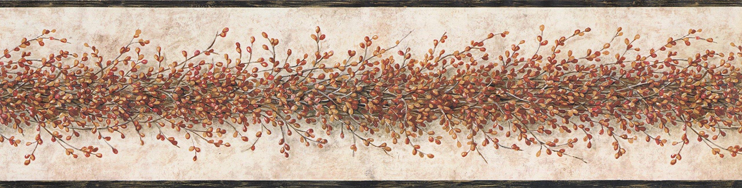 Wallpaper Border - Floral Wallpaper Border 3348 YC