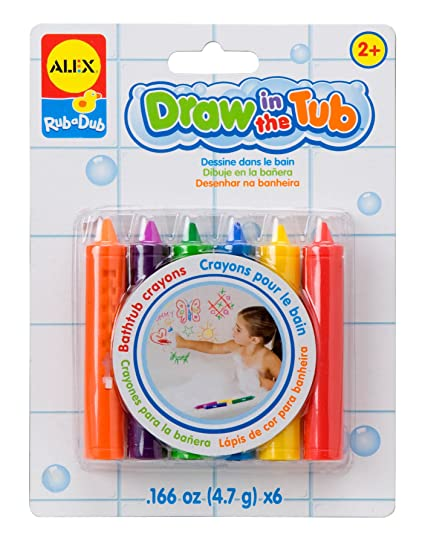 Amazon Com Alex Toys Rub A Dub Draw In The Tub Crayons Toys Games
