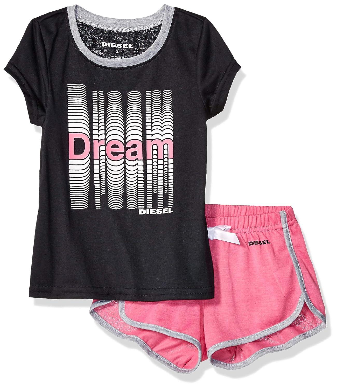 Diesel Sleepwear Girls Sleeve T-Shirt and Short Sleepwear Set