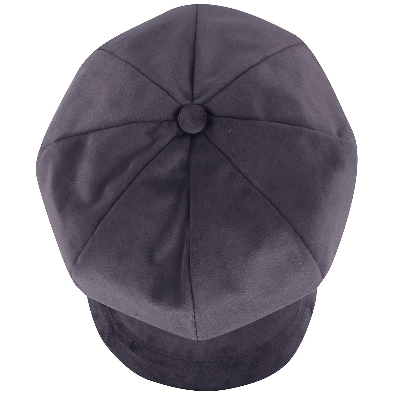 87c67df8 Amazon.com: RaOn N393 Trendy Soft Velvet Fabric 8 Panel Newsboy Cap Golf Cabbie  Gatsby Beret Hat (Black): Clothing