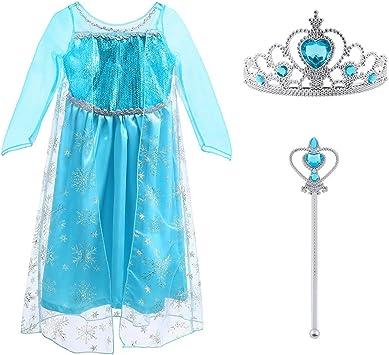 Frozen 2 Elsa Anna Mädchen Prinzessin Eiskönigin Kleid Cos Karneval Party Kostüm